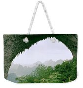View Through Moon Hill In Guangxi In China Weekender Tote Bag