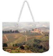 Villa On A Hill In Tuscany Weekender Tote Bag