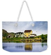 Village In Newfoundland Weekender Tote Bag