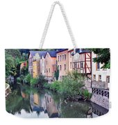 Village Reflections In Luxembourg I Weekender Tote Bag by Greg Matchick