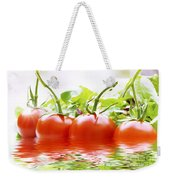 Vine Tomatoes And Salad With Water Weekender Tote Bag
