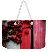 Vines On Red Shutters Weekender Tote Bag