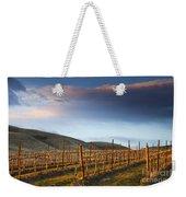 Vineyard Storm Weekender Tote Bag by Mike  Dawson