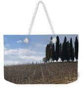 Vineyard With Cypress Trees Weekender Tote Bag