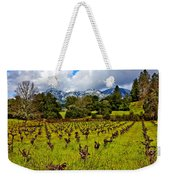 Vineyards And Mt St. Helena Weekender Tote Bag by Garry Gay