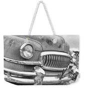 Vintage 1951 Nash Ambassador Front End 2 Bw Weekender Tote Bag