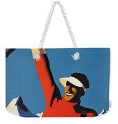 Vintage Austrian Skiing Travel Poster Weekender Tote Bag