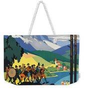 Vintage Austrian Travel Poster Weekender Tote Bag