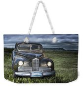 Vintage Auto On The Prairie Weekender Tote Bag