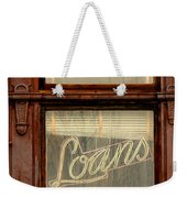 Vintage Bank Sign Weekender Tote Bag