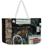 Vintage Bicycle And American Junk  Weekender Tote Bag
