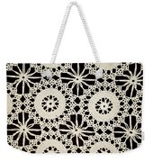 Vintage Crocheted Doily Weekender Tote Bag