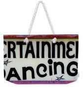 Vintage Dance Sign Weekender Tote Bag