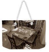 Vintage Domino Table Weekender Tote Bag