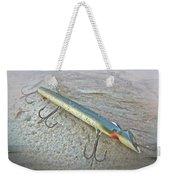 Vintage Fishing Lure - Floyd Roman Nike Lil Sandee Weekender Tote Bag by Mother Nature