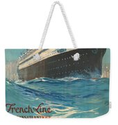 Vintage French Line Travel Poster Weekender Tote Bag