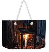 Vintage Lantern In A Barn Weekender Tote Bag by Jill Battaglia