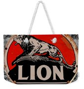 Vintage Lion Oil Sign Weekender Tote Bag