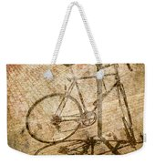 Vintage Looking Bicycle On Brick Pavement Weekender Tote Bag