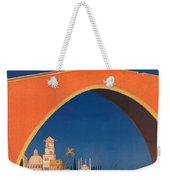 Vintage Mediterranean Travel Poster Weekender Tote Bag