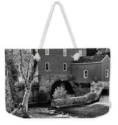 Vintage Mill In Black And White Weekender Tote Bag