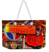Vintage Neon Sign Oldsmobile Weekender Tote Bag