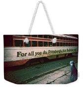 Vintage Pittsburgh Trolly Weekender Tote Bag