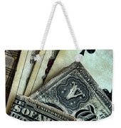 Vintage Playing Cards And Cash Weekender Tote Bag by Jill Battaglia