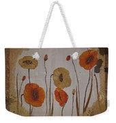 Vintage Red Poppies Painting Weekender Tote Bag