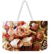 Vintage Roses And Chocolates Painterly Weekender Tote Bag