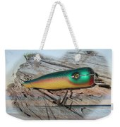 Vintage Saltwater Fishing Lure - Masterlure Rocket Weekender Tote Bag