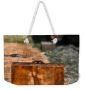 Vintage Suitcase By Train Weekender Tote Bag