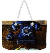 Vintage Telephone And Notepad Weekender Tote Bag