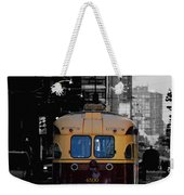 Vintage Trolley Weekender Tote Bag