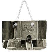 Vintage Water Pump Weekender Tote Bag