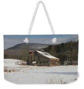 Vintage Weathered Wooden Barn Weekender Tote Bag