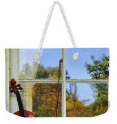 Violin On A Window Sill Weekender Tote Bag