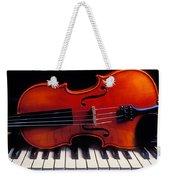 Violin On Piano Keys Weekender Tote Bag by Garry Gay