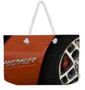 Viper Srt 10 Emblem And Wheel Weekender Tote Bag