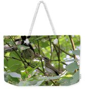 Vireo And Cowbird Weekender Tote Bag