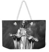 Virgin Mary And The Thunderstorm Bw Weekender Tote Bag