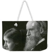 Virginia Woolf With Her Father Weekender Tote Bag
