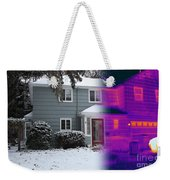 Visible And Infrared Image Of A House Weekender Tote Bag