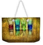 Vodka Glasses Weekender Tote Bag by Svetlana Sewell