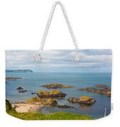 Volcanic Rock Formations In Ballintoy Bay Weekender Tote Bag