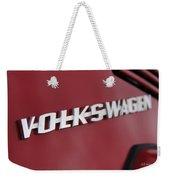 Volkswagen On Red Weekender Tote Bag