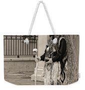 Voodoo Man In Jackson Square New Orleans- Sepia Weekender Tote Bag