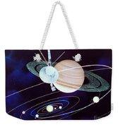 Voyager Saturn Flyby Artwork Weekender Tote Bag