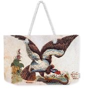 Vulture Attacking A Snake Weekender Tote Bag