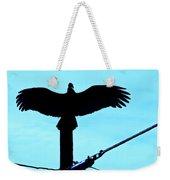 Vulture On Phone Pole Weekender Tote Bag